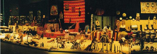 Instruments exposés sur scène